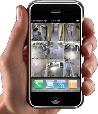Home CCTV Viewing on Mobile